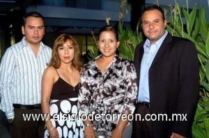 10082008 Claudia Yánez, Arturo Cuéllar, José Arredondo y Liliana Tovar.