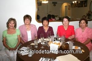 10082008 Guille de Covarrubias, Elisa de Abraham, Adriana de Valdez, Carmelita de García y Lili de Amador