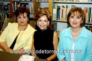 10082008 Licha Mena, Tere de Cantú y Sylvia de Maisterrena.