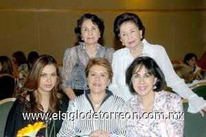10082008 María Teresa de Noriega, Consuelo de Escobar, Ethel Moreno, Mayela de Del Río y Vanessa Meraz