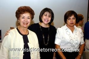 10082008 Norma Leticia de González Avelar, Susana de González y Lupita de Díaz de León