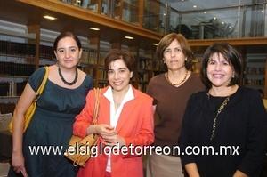 10082008 Patricia Hernández, Roxana Velázquez, Rosario Ramos y Lupita de De León.