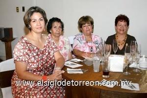 10082008 Rosario de Lerma, Ofelia de Valero, Mague de Villarreal y Marthita de Landeros.