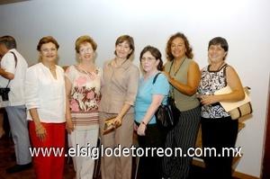 10082008 Silvia Castro, More Barret, Lilia de la Peña, Aurorita Máynez, Claudia Máynez y Ma. del Refugio Lozano.