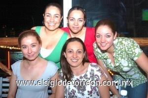 12082008 Nadia Aguilar, Maribel Sandoval, Anabel López, Coco Ponce y Miriam Escamilla.