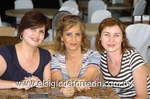 16082008 Anabel de Madero, Gina de Christophe y Verónica de Cruz.