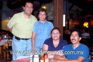 16082008 Juan Manuel Reyes, Cuquis Ruiz, Fernando Pérez y Ninfa Rincón.
