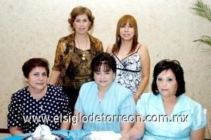 17082008 Tita Aceves, Lula Valdez, Silvia de Zorrilla, Martha Castillo e Irma de Sifuentes