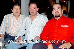 19082008 Alberto Rojas, Javier Mara y Eduardo Alemán.