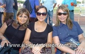 21082008 Salomé Ceballos, Cecilia Pereyra y Érika Silveyra.
