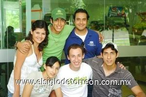 22082008 Sofi Sosa, Pablo Becerra, Guillermo Galván, Guillermo Salinas, Gaby Alcalde y Raúl Valenzuela