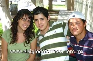 22082008 Sonia Portillo, Víctor Orozco y Romeo Ramírez.