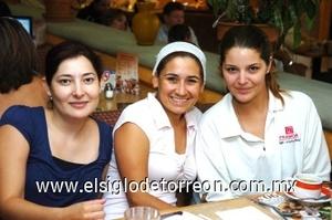 25082008 Gabriela Vilanova, Angélica Ávalos y María Jose Saavedra.