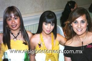 25082008 Linda Ramírez, Diana Rivera y Gris García.