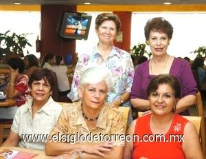 25082008 María Luisa Arellano, Patricia de Arizpe, Tere Romero, Georgina Sáenz y Luz Elena de Ramírez.