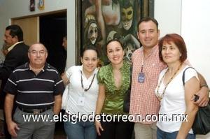 24082008 Fernando Sotomayor, Graciela de Sotomayor, Angélica, Laura y Ricardo Quintero.