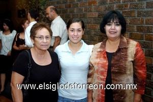 24082008 Irma Esquivel, Ana Luisa Revueltas e Irene Martínez.