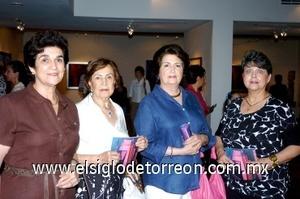 24082008 Marilú de Anaya, Tere Iglesias, María Matilde Valdés y Elvia de Madero.