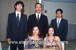 24082008 Mario Macías Rodríguez, Raúl Elizondo Balderas, Raúl Elizondo Núñez, Ana Sofía y María Fernanda Verduzco Núñez