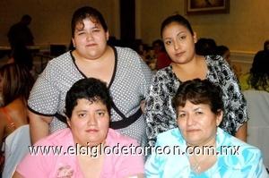 24082008 Rosario Cervantes, Rosario Calderón, Ana Laura Cervantes y Mirna de Alcáza