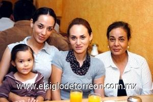 25082008 Tatiana Hernández, Bárbara Chávez, Flor Hernández y Olivia Rascón.