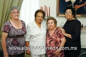 27082008 Socorro Romo, Gabriela Camarena, Graciela Martínez y Emma Castañeda