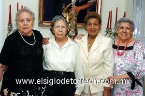 27082008 Yolanda Santoscoy, Martina Bucio, Ana María Salazar y Ernestina Marín