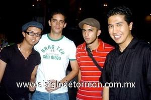 28082008 Carlos Herrera, Arturo Pinto, Edson Caballero y Diego Iván