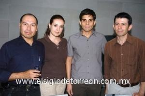 28082008 Flavio Becerra, Maribel Fernández, Carlos Sáenz y Alex Figueroa