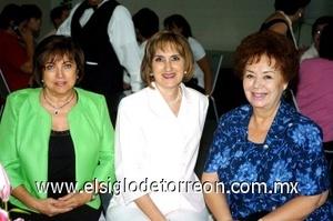 28082008 Susana Ortega de González, Silvia Garza de Maisterrena y Norma de González