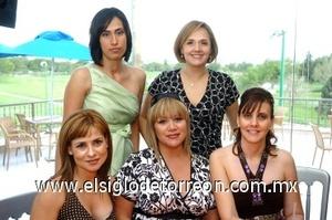 31082008 Susana de Aguirre, Ana Laura de Bedolla, Daniela Flores, Vero de Garza y Carmen Bedolla
