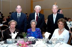 31082008 Mario Villarreal, Aída de Villarreal, Francisco Ledesma, Martha de Ledesma, Sergio Berlanga y Bertha de Berlanga