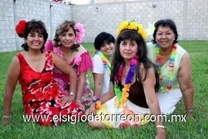 31082008 Margarita González, Coco Cruz, Ana Núñez, Reyna Segovia y Cuqui González.