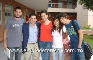 31082008 Luis Francisco Flores, Andrés Sumano, Vero Cepeda, Lorena Saldaña y Amilcar Morato.