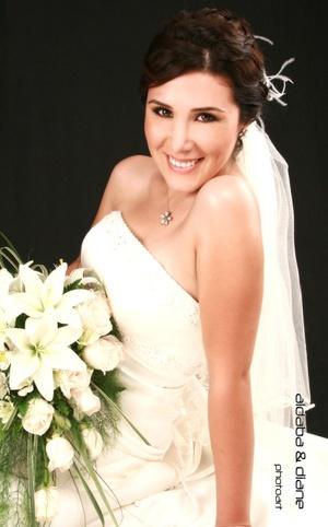 Srita. Liliana Guerrero Garza el día que unió su vida en matrimonio con el Sr. Kevin Guillermo Rodríguez Trasfí.  <p> <i>Aldaba & Diane Fotografía</i>