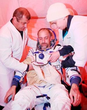 La cápsula recuperable de la nave espacial aterrizó sin incidentes en Kazajstán.