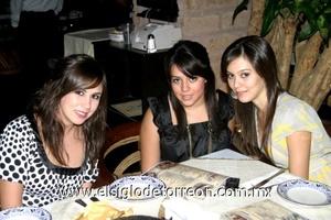 Marcela Giacomán, Celmira Villalpando y Ana Silvia Hernández.