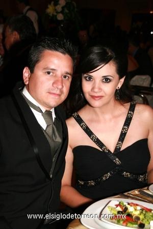 Eduardo Villalobos y Georgina Gómez.