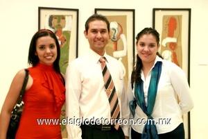 Clara Dìaz, Isaac Rodríguez y Paola Gonzàlez.