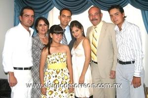 Bertha Alicia Gutiérrez, Julio Carlos Gutiérrez, Julio Carlos Rentería, Imelda Gutiérrez y los hermanos Mauricio, Ricardo y Mary Fer Gutiérrez.