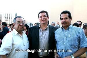 José González Jáuregui, Ignacio Aguirre y Ernesto Llamas.