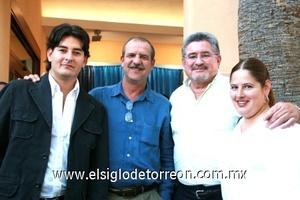 Horacio Niño Rodríguez, Rafael Saborit Aguado, Fernando González Ruiz y Patricia González Arriaga.