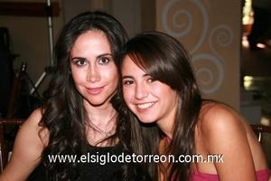 Sofía Rodríguez y Daniela Garza.