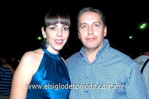 09112008 Bárbara Dueñes y Héctor González disafrutaron del espectáculo ofrecido en El Coliseo Centenario