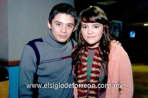23112008 Diego Rangel y Vicky Valdivia.
