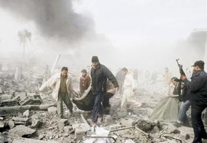 Otro ataque aéreo destruyó un depósito donde se almacenaban medicinas para las farmacias locales.