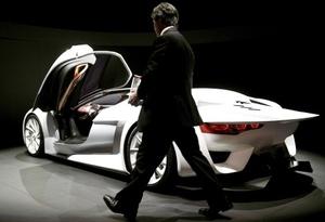 El nuevo GT de Citroen durante su presentación a la prensa en Salón Internacional del Automóvil y Accesorios de Ginebra, Suiza.