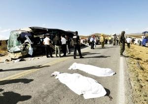 El director de Protección Civil de Saltillo, Alberto de la Rosa Vizcaíno, señaló que eran tres los canadienses muertos.