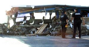 El conductor del camión perdió el control y se impactón con el autobús que llevaba a un grupo de jubilados y había partido de la ciudad estadounidense de McAllen, Texas, hacia el estado de Zacatecas cuando ocurrió el percance.