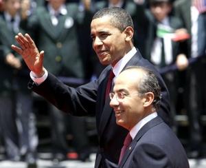 El presidente mexicano Felipe Calderón llamó a su colega estadounidense Barack Obama a iniciar una nueva era en las relaciones bilaterales.